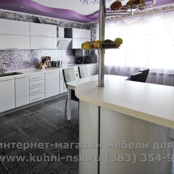 Белые кухни. Портфолио. Подробнее - http://www.kuhni-nsk.ru/works_o.php?num=628
