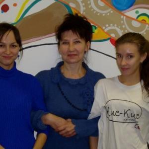Справа от меня хозяйка кафе Ирина, слева администратор