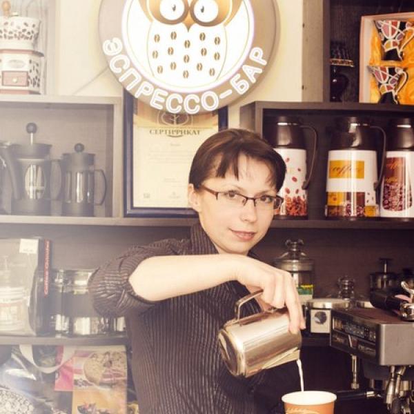 кофейная хозяйка этого заведения Лариса