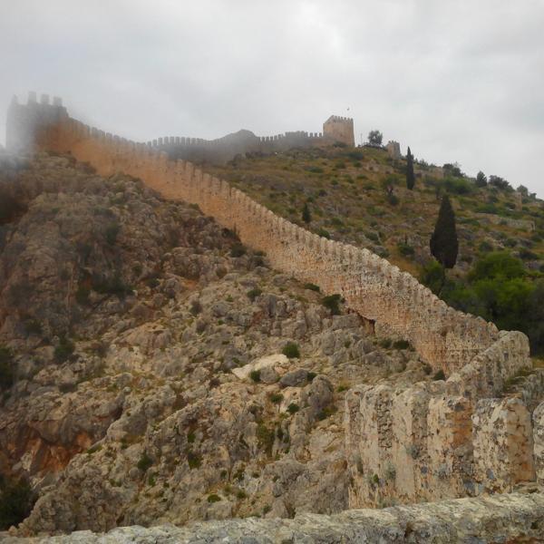 Старая крепость в Алании, Турция