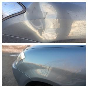 Машина до ремонта и после него