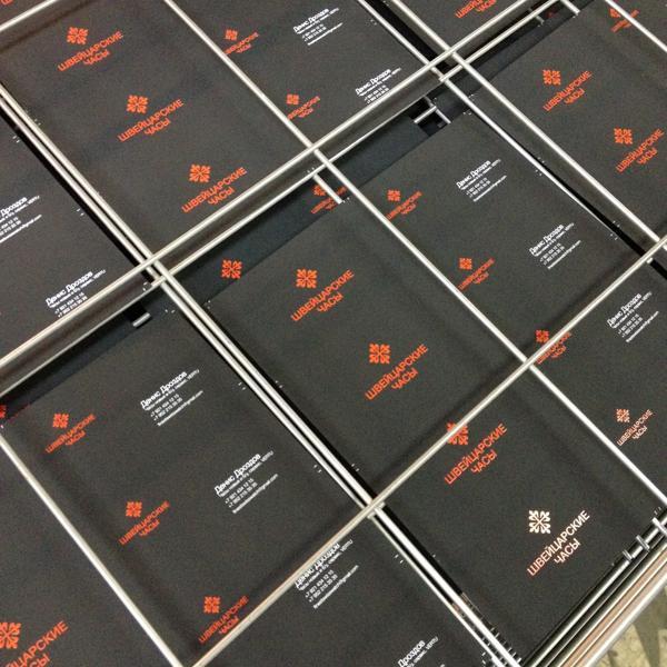 Заготовки визиток на сушилке